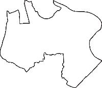 神奈川県川崎市幸区(さいわいく)の白地図無料ダウンロード
