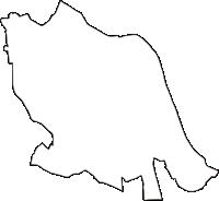 神奈川県川崎市中原区(なかはらく)の白地図無料ダウンロード