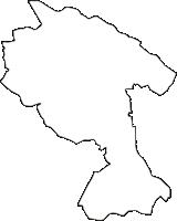 神奈川県川崎市高津区(たかつく)の白地図無料ダウンロード