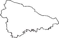 神奈川県川崎市多摩区(たまく)の白地図無料ダウンロード
