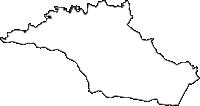 神奈川県川崎市宮前区(みやまえく)の白地図無料ダウンロード