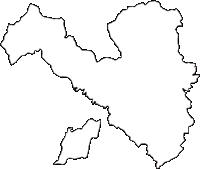 神奈川県川崎市麻生区(あさおく)の白地図無料ダウンロード