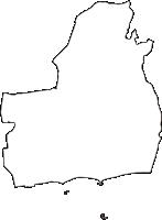 神奈川県茅ヶ崎市(ちがさきし)の白地図無料ダウンロード