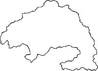 神奈川県逗子市(ずしし)の白地図無料ダウンロード