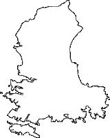 神奈川県三浦市(みうらし)の白地図無料ダウンロード