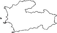 神奈川県三浦郡葉山町(はやままち)の白地図無料ダウンロード