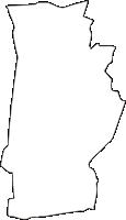 神奈川県高座郡寒川町(さむかわまち)の白地図無料ダウンロード