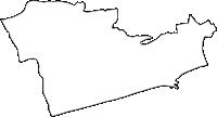 神奈川県中郡大磯町(おおいそまち)の白地図無料ダウンロード