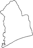 神奈川県中郡二宮町(にのみやまち)の白地図無料ダウンロード