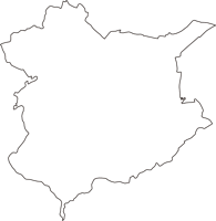 神奈川県足柄上郡中井町(なかいまち)の白地図無料ダウンロード