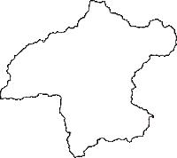 神奈川県足柄上郡山北町(やまきたまち)の白地図無料ダウンロード