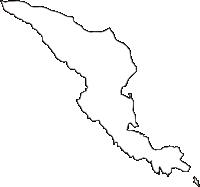 神奈川県足柄下郡真鶴町(まなづるまち)の白地図無料ダウンロード