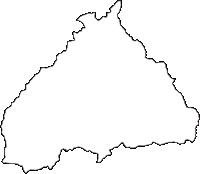 神奈川県愛甲郡清川村(きよかわむら)の白地図無料ダウンロード
