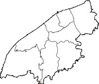 新潟県新潟市新潟市(にいがたし)の白地図無料ダウンロード