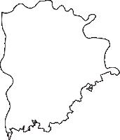 新潟県新潟市秋葉区(あきはく)の白地図無料ダウンロード