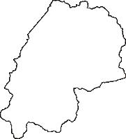 新潟県南魚沼郡湯沢町(ゆざわまち)の白地図無料ダウンロード