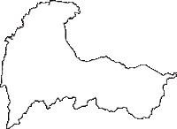 富山県富山市(とやまし)の白地図無料ダウンロード