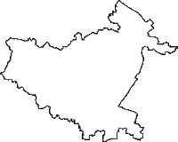 富山県高岡市(たかおかし)の白地図無料ダウンロード