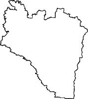 富山県砺波市(となみし)の白地図無料ダウンロード