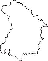 富山県小矢部市(おやべし)の白地図無料ダウンロード