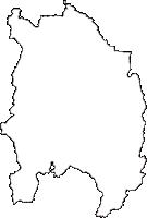 富山県南砺市(なんとし)の白地図無料ダウンロード