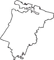 富山県射水市(いみずし)の白地図無料ダウンロード