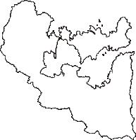 石川県七尾市(ななおし)の白地図無料ダウンロード