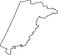 石川県かほく市(かほくし)の白地図無料ダウンロード