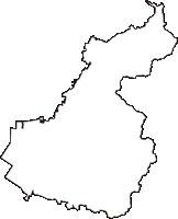 石川県河北郡津幡町(つばたまち)の白地図無料ダウンロード