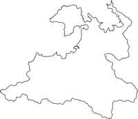 福井県小浜市(おばまし)の白地図無料ダウンロード
