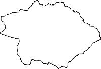 福井県勝山市(かつやまし)の白地図無料ダウンロード