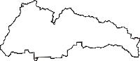 福井県鯖江市(さばえし)の白地図無料ダウンロード