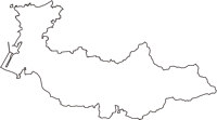 福井県坂井市(さかいし)の白地図無料ダウンロード