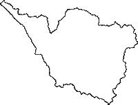 福井県南条郡南越前町(みなみえちぜんちょう)の白地図無料ダウンロード