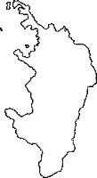 福井県三方上中郡若狭町(わかさちょう)の白地図無料ダウンロード