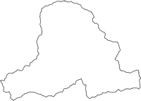 山梨県大月市(おおつきし)の白地図無料ダウンロード
