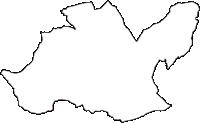 山梨県韮崎市(にらさきし)の白地図無料ダウンロード