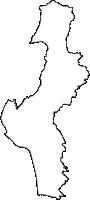 山梨県甲斐市(かいし)の白地図無料ダウンロード