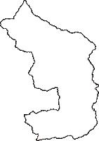 山梨県上野原市(うえのはらし)の白地図無料ダウンロード
