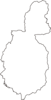 山梨県甲州市(こうしゅうし)の白地図無料ダウンロード