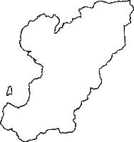 山梨県南巨摩郡身延町(みのぶちょう)の白地図無料ダウンロード