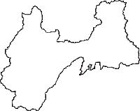 長野県松本市(まつもとし)の白地図無料ダウンロード