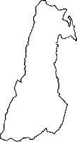 長野県岡谷市(おかやし)の白地図無料ダウンロード