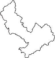 長野県飯田市(いいだし)の白地図無料ダウンロード