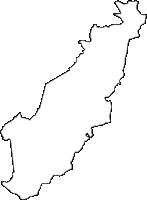 長野県諏訪市(すわし)の白地図無料ダウンロード