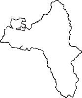 長野県伊那市(いなし)の白地図無料ダウンロード