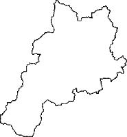 長野県大町市(おおまちし)の白地図無料ダウンロード