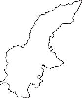 長野県飯山市(いいやまし)の白地図無料ダウンロード