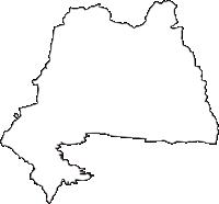 長野県茅野市(ちのし)の白地図無料ダウンロード
