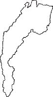 長野県塩尻市(しおじりし)の白地図無料ダウンロード